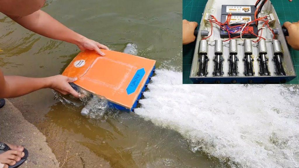 Construyendo un propulsor para el agua