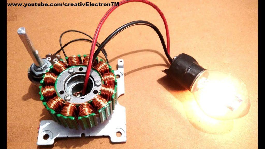 Como hacer un generador de energía desde un motor muerto BLDC DIY