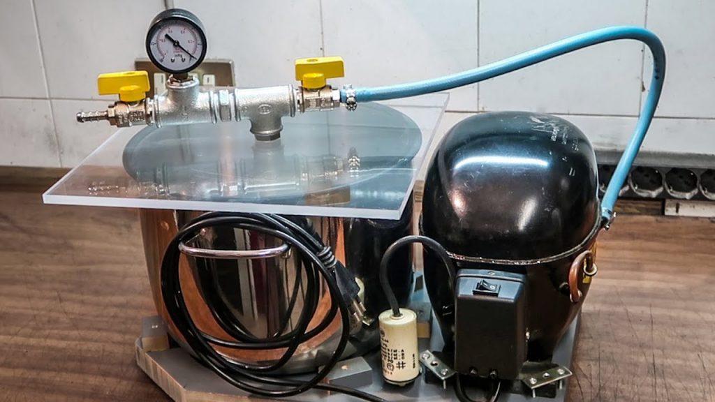 Bomba y cámara de vacío DIY