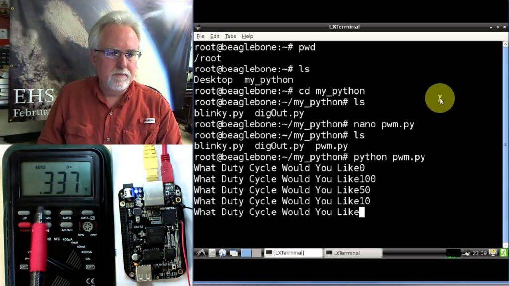 Beaglebone Black LECCIÓN 6: Simula una salida analógica usando PWM en Python