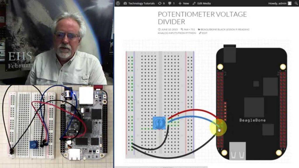 Beaglebone Black LECCIÓN 9: Lectura de voltajes analógicos de Python