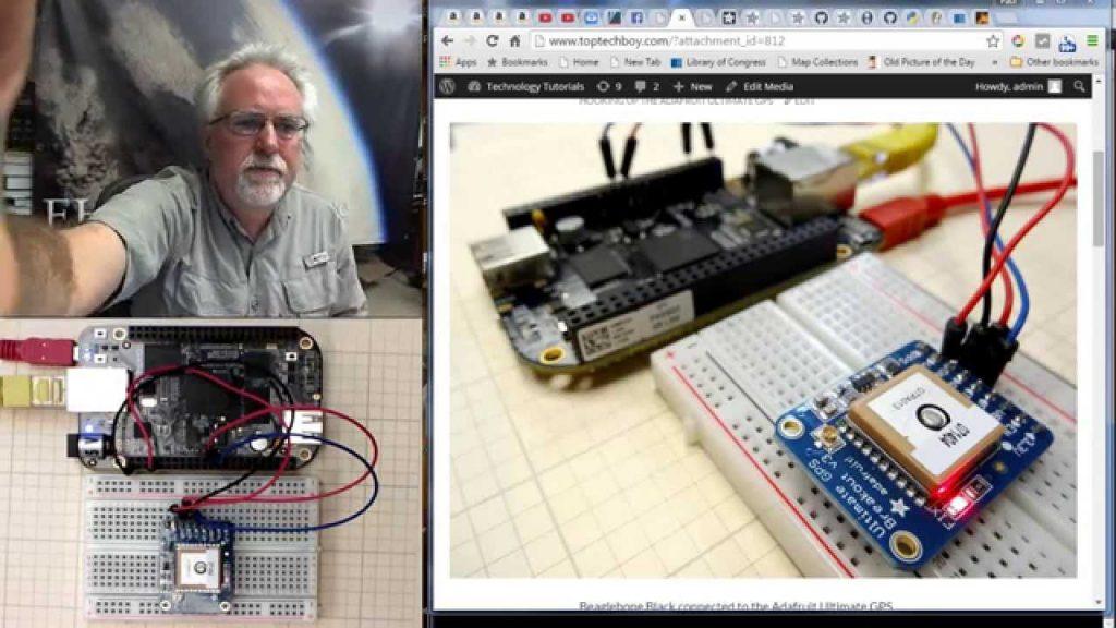 Rastreador de GPS negro Beaglebone LECCIÓN 1: Conecta el Ultimate GPS de