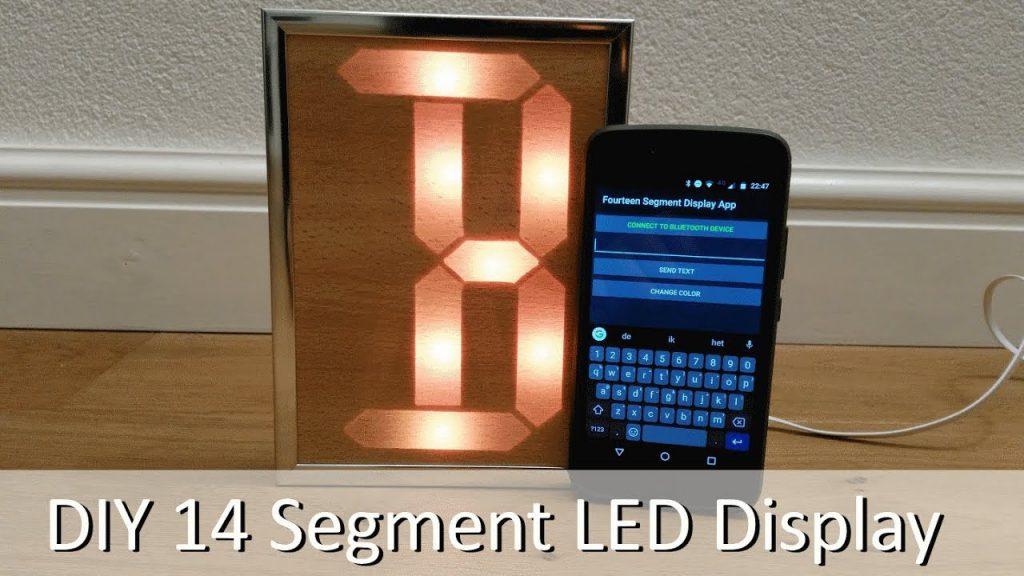 Pantalla LED de 14 segmentos DIY