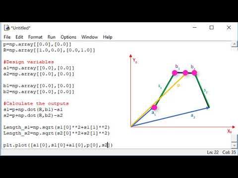 Robótica 2 U1 (Cinemática) S6 (Manipuladores paralelos) P4 (Simulación de Python)