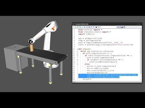 Python Robotics – 6 – Colocar piezas en objetos en movimiento