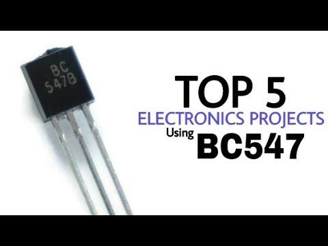 TOP 5 proyectos de electrónica con el transistor BC547 | Proyectos del