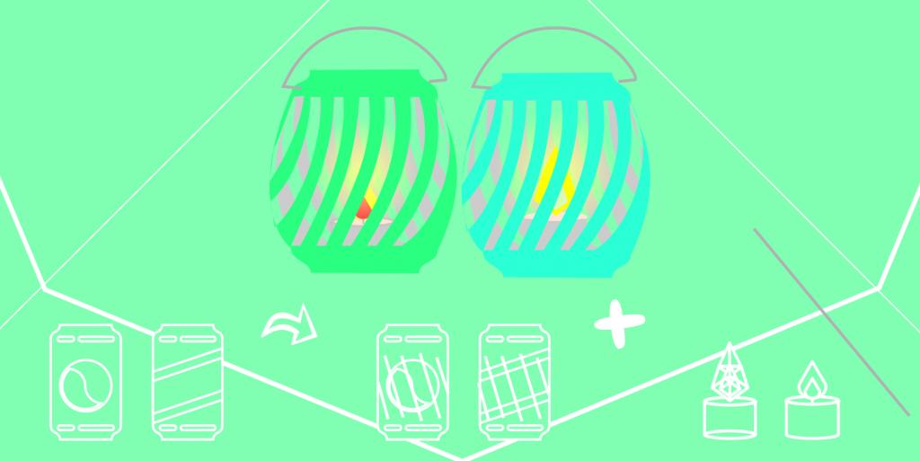 Linternas hechas con latas de refresco