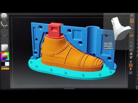 Impresión 3D molde: zapatos C-3PO-3d