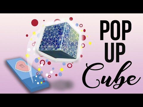 Pop Up Cubos en una caja – Idea de la tarjeta Amistad