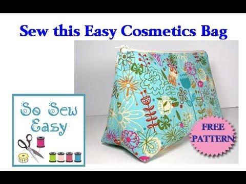 Coser una bolsa de cosméticos fácil