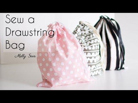 Aprender a coser una bolsa con cordón – proyecto de costura para