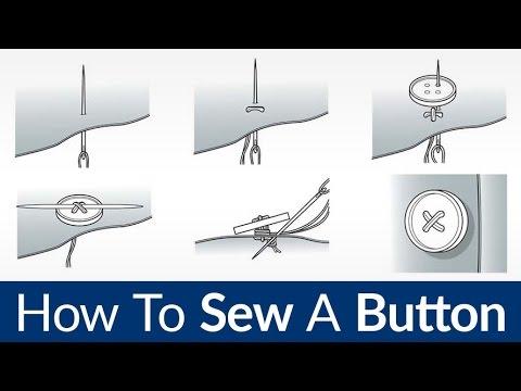 Cómo coser un botón | Rápido y fácil de coser A Mano