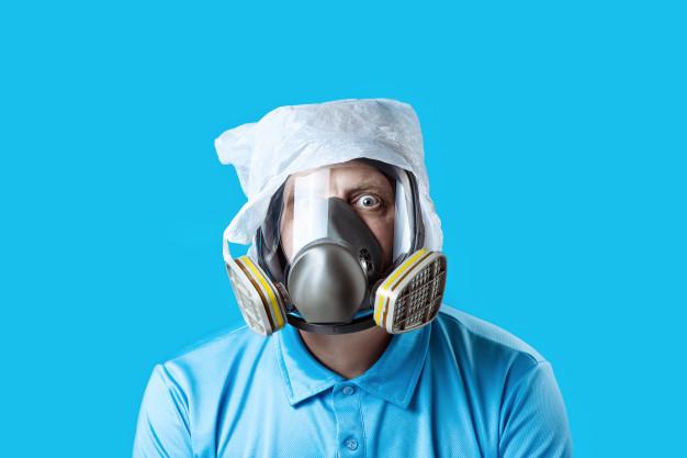 Mascarilla con respirador hecho en casa