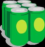 Mini licuadora con lata de refresco.
